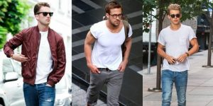 Nice Outfits for Guys with White T-Shirt